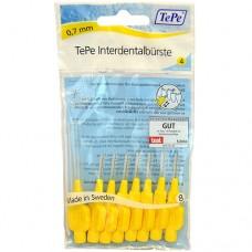 TEPE Mezizubní kartáčky 0,7 mm Normal-žlutý