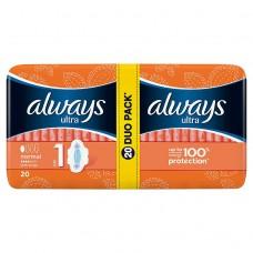 Always Ultra Normal plus hygienické vložky