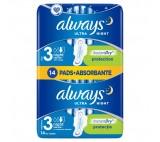 Always Ultra Night hygienické vložky s křidélky