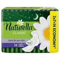 Naturella Camomile Classic night hygienické vložky s jemnou vůní