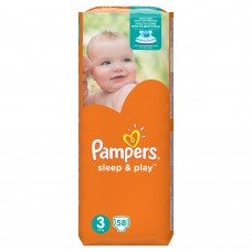 Pampers Sleep&Play pleny 3 Midi, 5-9 kg