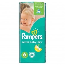 Pampers Active Baby-Dry pleny 6 Extra Large, 15+ kg