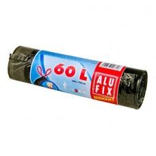 Alufix Economy odpadkové pytle zatahovací černé, 60 l