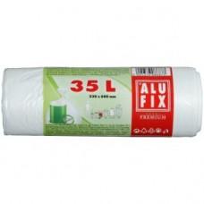 Alufix odpadkové pytle bílé, 35 l
