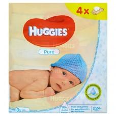 Huggies Pure dětské ubrousky Quatro
