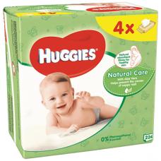 Huggies Natural dětské ubrousky Quatro