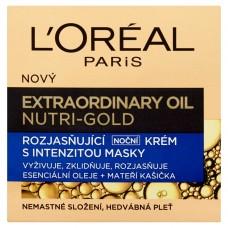 L'Oréal Paris Extraordinary Oil Nutri-Gold Rozjasňující noční krém s intenzitou masky