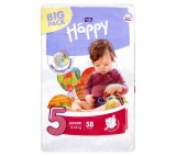 Bella Baby Happy 5 Junior jednorázové plenky 12-25kg 58 ks