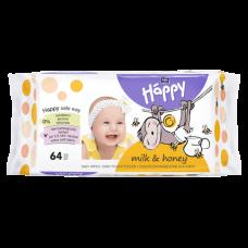 Bella Baby Happy vlhčené ubrousky Mléko & Med