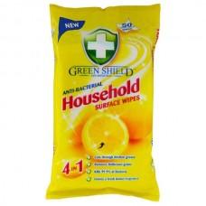 Green Shield antibakteriální ubrousky na čištění všech povrchů, citrón