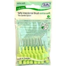 TEPE Mezizubní kartáčky 0,8 mm Extra Soft - zelený