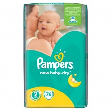 Pampers New Baby-Dry pleny 2 Mini, 3-6 kg