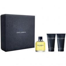 Dolce & GabbanaPour Homme - toaletní voda s rozprašovačem 125 ml + balzám po holení 100 ml + sprchový gel 50 ml
