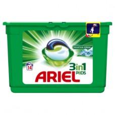 Ariel 3v1 Mountain Spring gelové kapsle, 14 praní