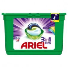 Ariel 3v1 Color gelové kapsle, 14 praní