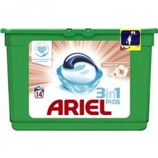 Ariel 3v1 Sensitive kapsle, 14 praní