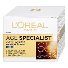 L'Oréal Paris Age Specialist 65+ noční vyživující péče proti vráskám